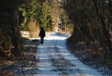 Winterspaziergang in die Zempower Umgebung